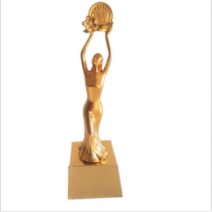 Personalized Resin Gold Dance Trophy  TR0107
