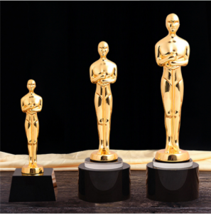 Metal Plate Resin Oscar Statue Trophy For Events Award  TR0108