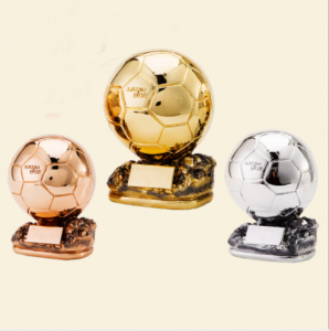 Wholesale resin gold plated football trophy soccer  TR0109