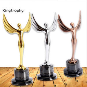 Stars Golden Crystal Metal Trophy Awards Prize-Giving for Dancer with Black Base  TR0113