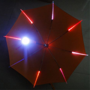 Wholesale Fashion Light Glow In The Dark Clear Led Umbrella  UM0058