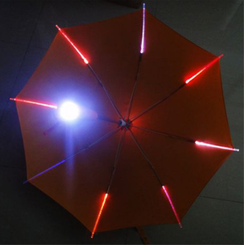 Wholesale Fashion Light Glow In The Dark Clear Led Umbrella  UM0058 Featured Image