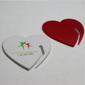 Heart Shaped Plastic Letter Opener Blade  LOP0004