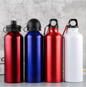 Custom 500ml 600ml 750ml aluminium sports drinking water bottle ASB0606