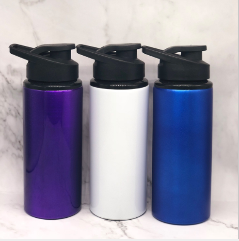 600ml aluminum water bottles for sale wholesale camping bottle with PP lid ASB0607 Featured Image