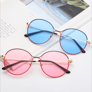 Retro round color sunglasses trendy female fashion personality ocean piece prince mirror vibrato net red same glasses men GS0118