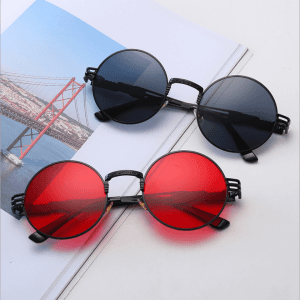 Round frame prince lens round personality sunglasses men's retro sunglasses 2019 new sunglasses GS0104