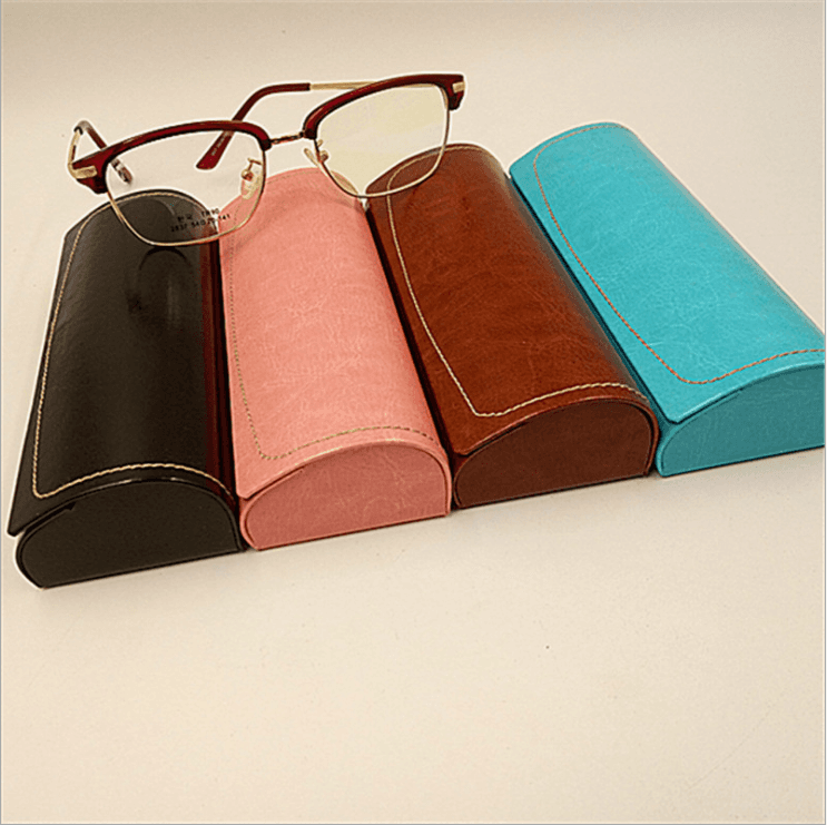 Spectacle case / high-end myopia mirror sheet handmade box sewing edge creative glasses storage box GC0172 Featured Image