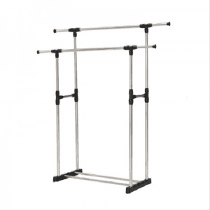 Stainless steel with wheels for up and down adjustment of left and right telescopic drying racks BS1087