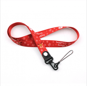 Thermal transfer Christmas mobile phone lanyard High-end mobile phone rope factory lanyard lanyard LY1073
