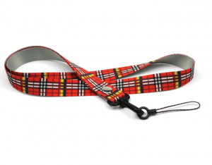 Thermal transfer plaid fabric cartoon mobile phone lanyard high-grade mobile phone rope factory lanyard lanyard LY1066