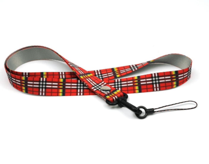 Thermal transfer plaid fabric cartoon mobile phone lanyard high-grade mobile phone rope factory lanyard lanyard LY1066 Featured Image