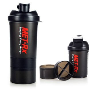 Promotional Advertising Gift Plastic 2 in 1 shaker cup Dual Shaker Bottle Sport Protein Shaker Bottle BT0051