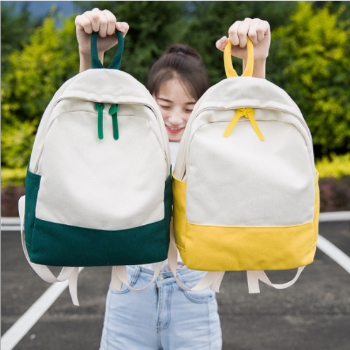 College Students Leisure Bag Wind Fashionable Canvas Backpack BPK0500 Featured Image