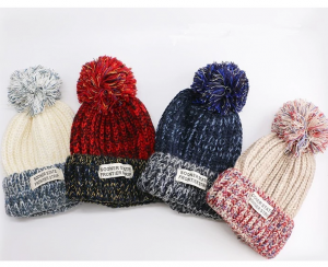 Custom Beanie Winter Hats with Knit pom Pom Hat CAP0014