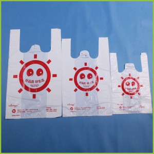 Cheap Custom Printed Supermarket Shopping Packaging Hdpe T-shirt Plastic SB0005