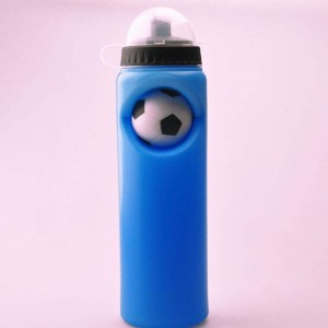 Promotional ECO-Friendly customized Plastic Sports water Bottle with Football BT0022