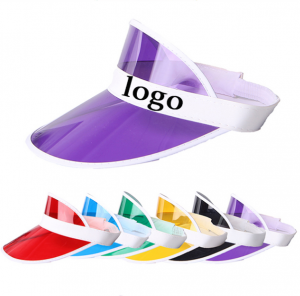 Custom Uv Protection Plastic Pvc Sun Visor Cap Wholesale CAP0011