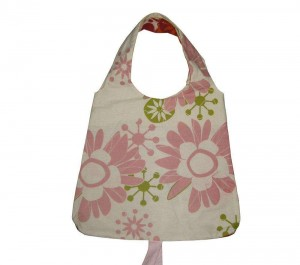 Wholesale Canvas Printed fashion shopping bag cotton sling bag cotton CB0003