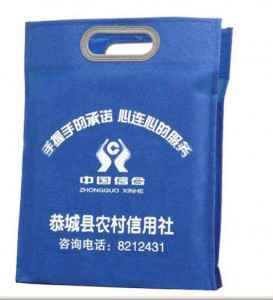 Promotional Cheap Custom Logo Print Eco Friendly Die Cut Shopping Non-Woven Bags / Non Woven Bag D Cut NB0005
