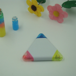 Promotion Gift Pen Tricolor Highlighter Triangle Highlighter