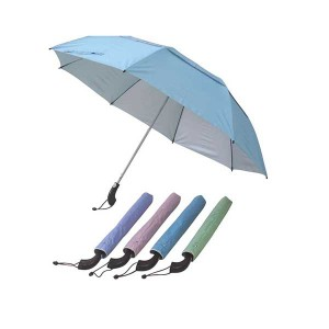 23inch fold umbrella, fiber frame manual open 2 fold umbrella with double layer fold umbrella