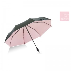 3 fold Vinyl sun protection umbrellas  UM0001