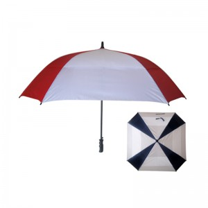 Hot Sale WindProof Gellas Auto Open Air Vented Square Golf Umbrella
