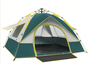Outdoor windproof and rainproof hydraulic double tent DT1001