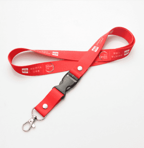 2.0*90cm easy to pull buckle thermal transfer lanyard mobile phone sling work permit lanyard LY1023