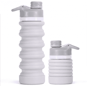 Silicone sports bottle custom logo promotional gifts creative outdoor fitness telescopic folding kettle PB998
