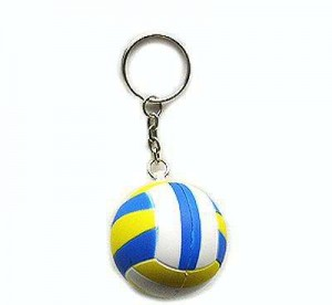 wholesale Cheap Custom PU or PVC Volleyball Keychain For Promotional Gift:PUK0012