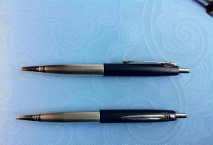 Aluminum metal ball pen with comfortable grip mini order  MP0014