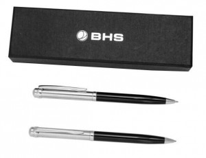 Customized High Quality Metal Ball Pen Set With Black Gift Box For Promotion  MP0084