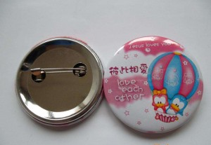 Custom Printed Round Pinback Button Badge with Safety Pin for Promotion BBG0008