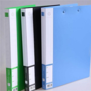 High Quality Plastic 3-Holes Cover Round Ring View Binder File Folder for Loose Leaf Sheet Protector With Flap
