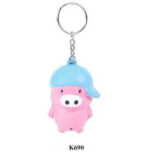 Funny Games Toys Pig Style Keychain Pu Ball:PUK0011