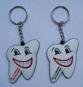 Tooth shape PVC Keychain,Silicone key holder,Rubber key chain:PVC0010