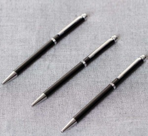 Classic black metal ball pen with custom logo for business gift promotional ball pen  MP0013