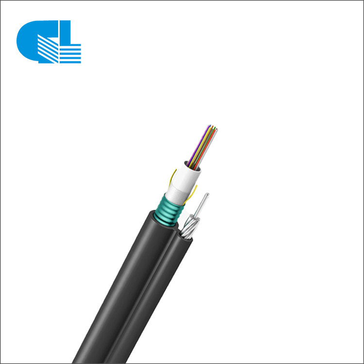 China OEM Duct Fiber Optic - GYXTC8S Figure 8 Cable with Steel Tape – GL Technology detail pictures