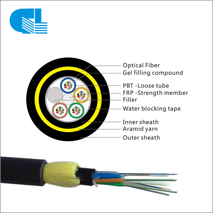 48 Core Aerial ADSS Cable  All-Dielectric Self-Supporting Double Layer ADSS Fibra Optica