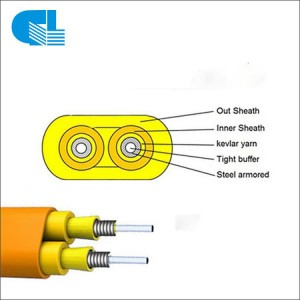 Hot Selling for Cfoa Sm As120 - GJFJBV Indoor Duplex Flat Fiber Optic Cable – GL Technology