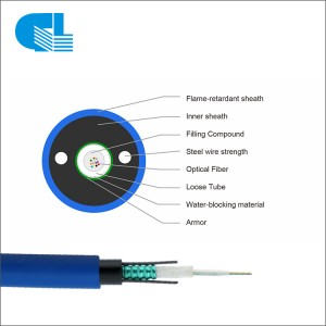 OEM Factory for Anti Rodent Fiber Optic Cable - MGXTSV Uni-tube Mining Fire Resistant Fiber Optic Cable – GL Technology