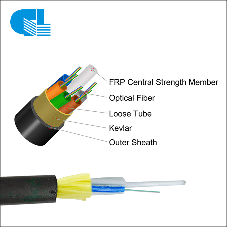 Aerial 2-24 Core ADSS All-Dielectric Self-Supporting Fiber Cable For 50M-150M Mini Span