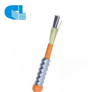 6 Strand 62.5/125 Multimode OM1 Indoor Armored Plenum Fiber Optic Cable