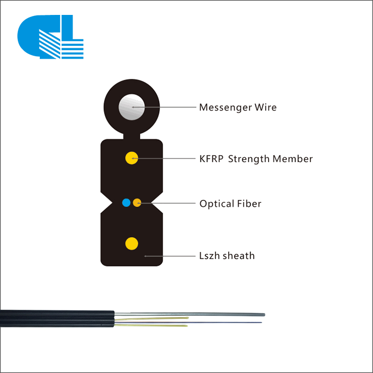 PriceList for Fiber Optic Sc Connector Termination - 1-12 Core Outdoor FTTH Drop Cable With LSZH Jacket – GL Technology detail pictures