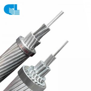 Overhead Aluminum Power Cable ACSR Bare Aluminium Conductor Steel Reinforced