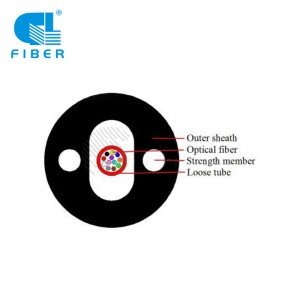 Flame-retardant Indoor/outdoor Lose Tube Fiber optic Cable 4 cores GJXZY OS2 SM G657 Type