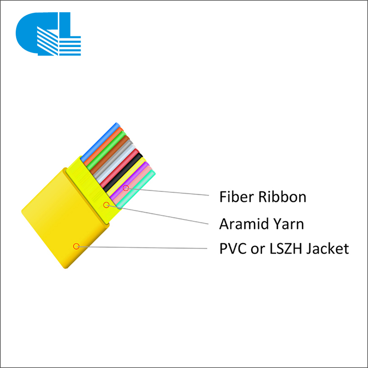 Factory Cheap Adss Fiber Optic Cable Overhead Hardware - GJDFBV Indoor Flat Ribbon Fiber Optic Cable – GL Technology