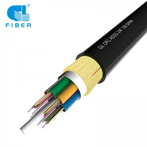 24 Core Single Layer All-Dielectric Self-Supporting ADSS Optical Cable